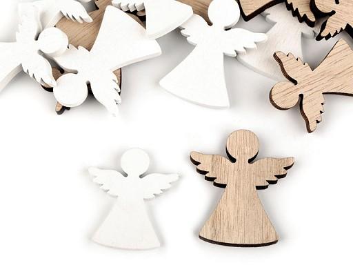 Dřevěná dekorace anděl, hvězda, stromeček, srdce, zvoneček
