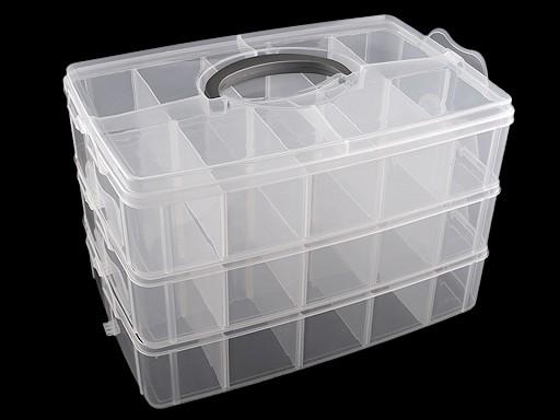 Velký plastový box / kufřík rozkládací 3 patra
