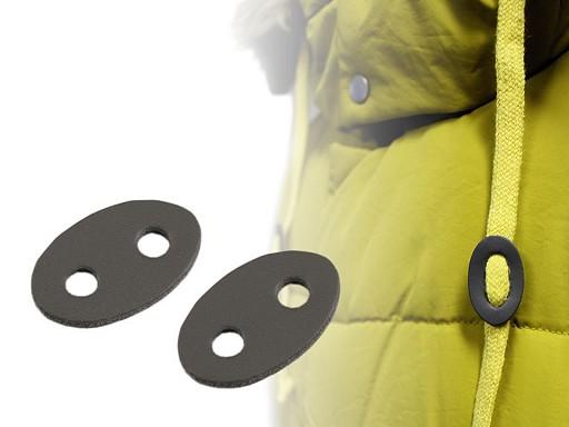 Stopery z eko-skóry 21x33 mm