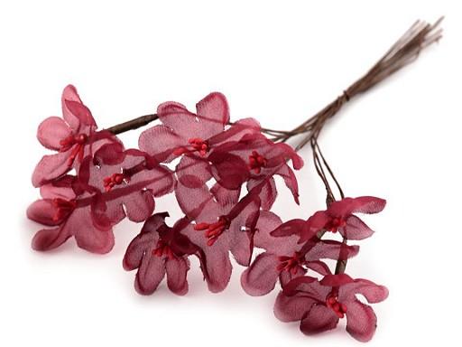 Luxusní květ na drátku / polotovar na vývazky