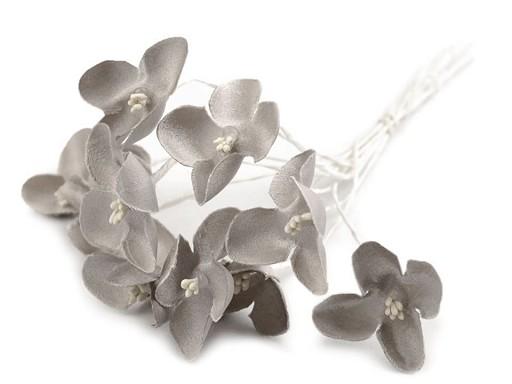 Luxusný kvet na dlhom drôtiku / polotovar na výväzky