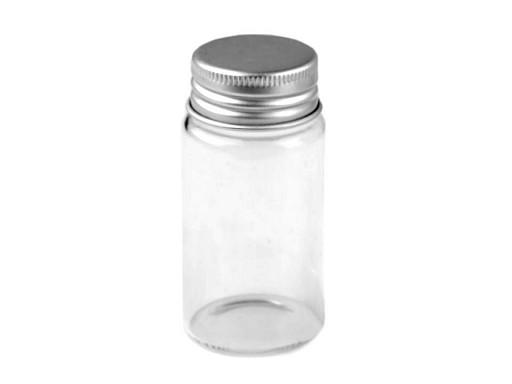 Sklenená fľaštička so skrutkovacím večkom 37x70 mm