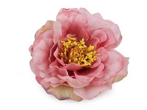 Umělý květ čajová růže Ø10 cm