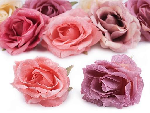 Kwiatek tekstylny róża Ø7 cm