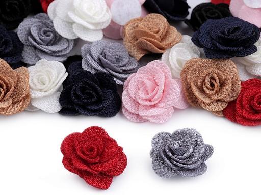 Textilní květ růže Ø30 mm