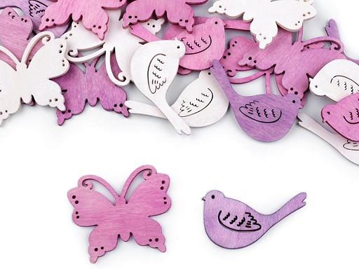 Akasztható pillangó, madárka dekoráció /ragasztható