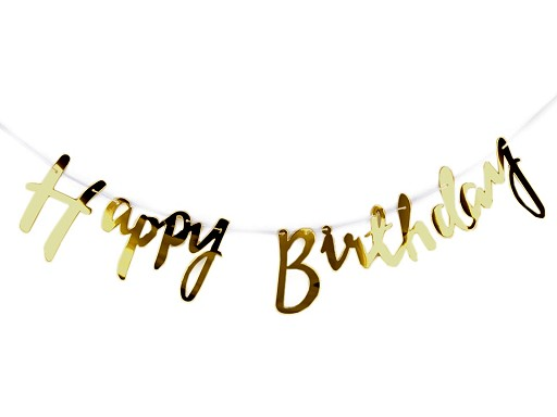 Párty dekorácia / girlanda Happy Birthday