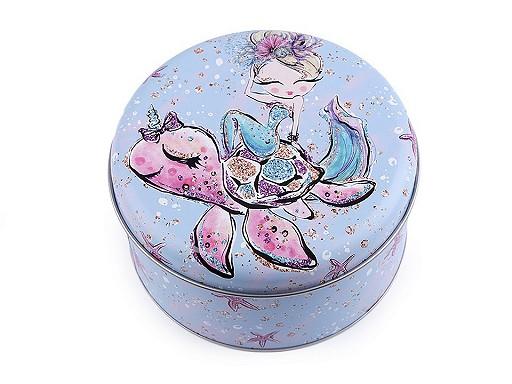 Plechová krabice malá - jednorožec, mořská panna