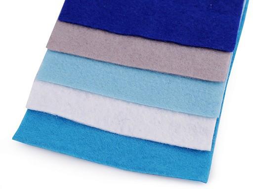 Farebná sada dekoratívnych filcov / plstí 10x45 cm