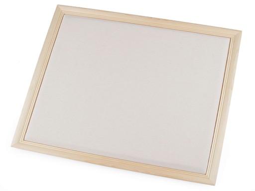 Dřevěný rám / nástěnka k aranžování 32x36 cm