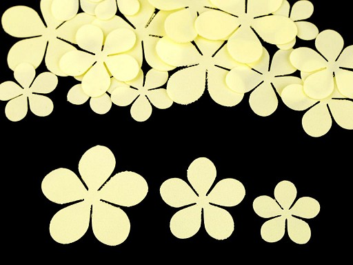 Foamiran květy mix velikostí