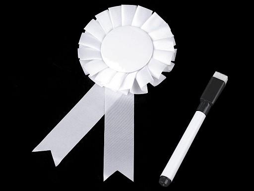 Párty brož / odznak Ø8 cm s popisovačem