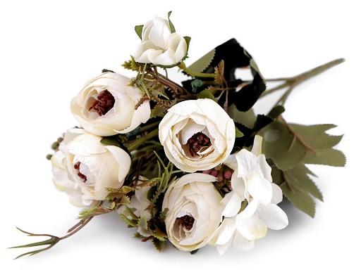 Umělá kytice pryskyřník