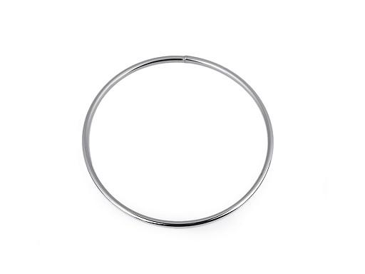 Kovový kruh na lapač snů / k dekorování Ø13,5 cm
