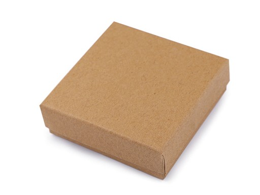 Krabička na šperky natural 9x9 cm