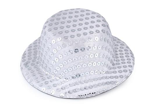 Mini Hat / Fascinator with Sequins for DIY decorating Ø13,5 cm