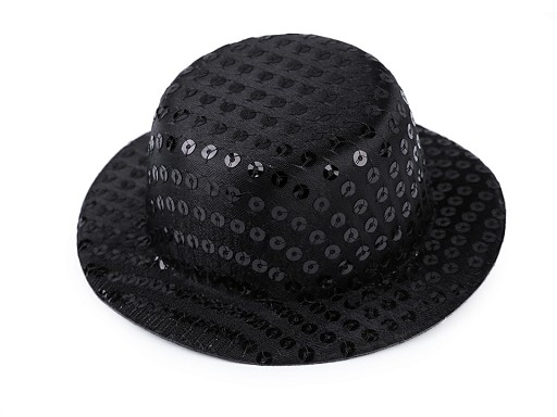 Mini klobouček /  fascinátor s flitry k dozdobení Ø13,5 cm