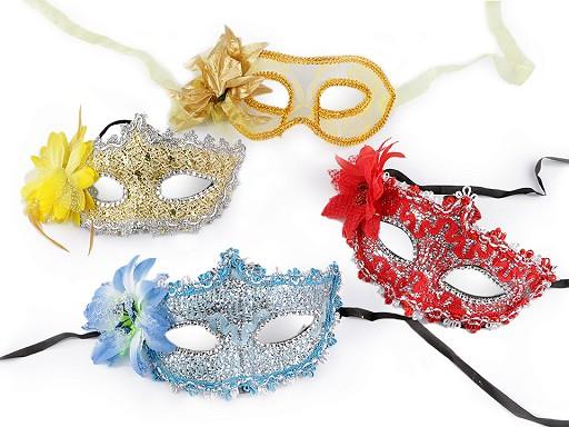 Karnevalová maska - škraboška s květem