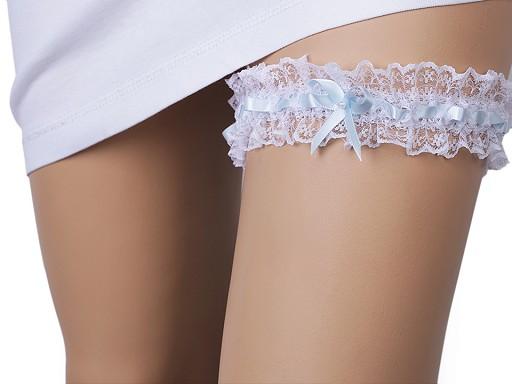Svatební podvazek krajkový šíře 4,5 cm