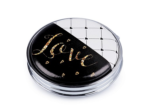 Kozmetikai tükör Love, szív