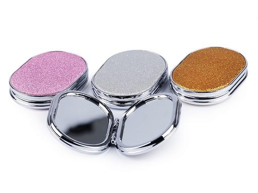 Kozmetikai tükör glitterekkel