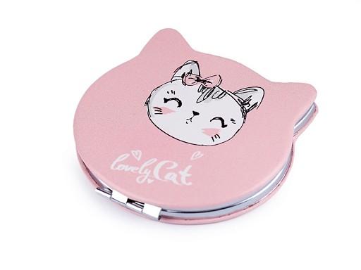 Kozmetické zrkadielko mačka