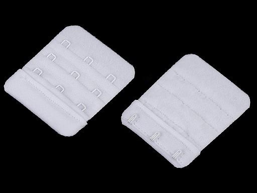 Haftki trzyrzędowe do staników przedłużające bez gumki szerokość 50 mm