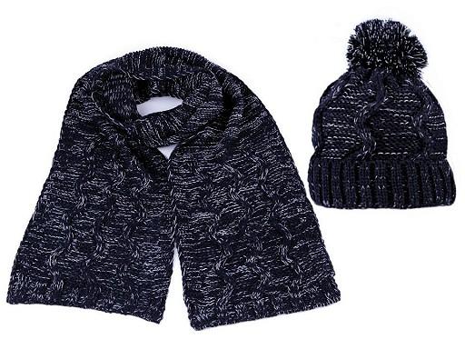Damen Wintermütze mit Pompon und Schal