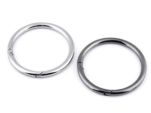 Karabína okrúhla na kabelky / krúžok na kľúče Ø50 mm