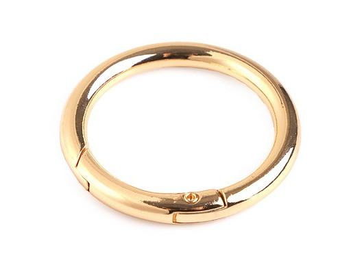 Karabína okrúhla na kabelky / krúžok na kľúče Ø32 mm