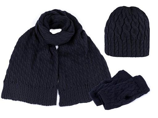 Dámská zimní sada čepice, šála a rukavice