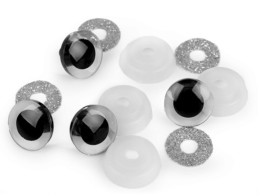 Bezpečnostní oči glitrové Ø20 mm