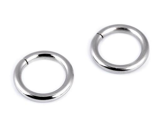 Kroužek Ø15 mm na koženou galanterii