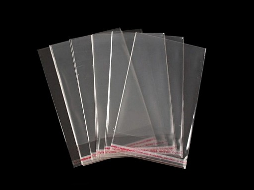 Celofánové sáčky s lepicí lištou 7x10 cm