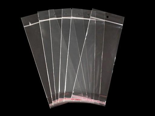 Torebki foliowe z paskiem klejącym i zawieszką 8x19,5 cm