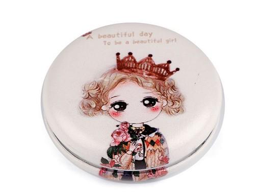 Kozmetické zrkadielko dievčatko