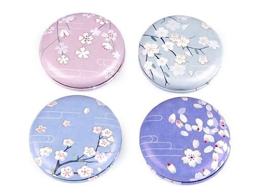 Kosmetické zrcátko květy