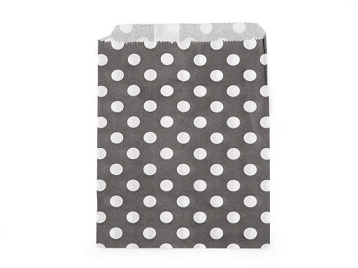 Papírový sáček chevron, puntík 13x17 cm