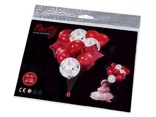Nafukovací balónky s konfetami sada