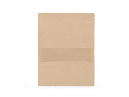 Papír zacskó nyílással natural, közepes