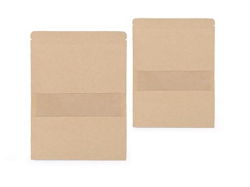 Papírový sáček s průhledem natural, malý