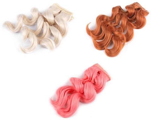 Peruka / włosy dla lalek 25 cm falowane