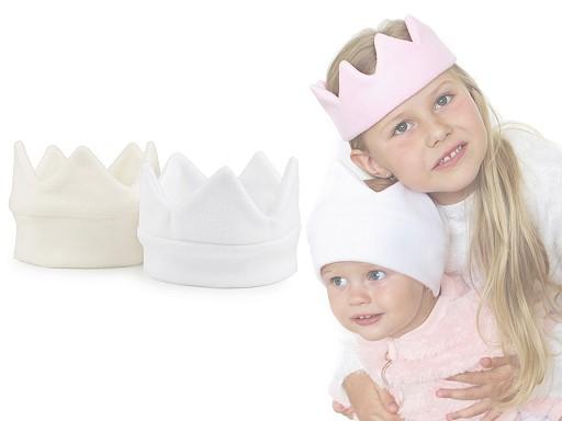 Czapka dziecięca z polaru - korona z lamówką