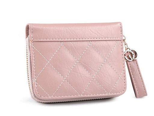 Brieftasche gesteppt 9,5x12 cm
