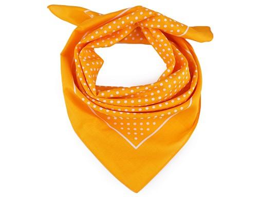 Bavlněný šátek s puntíky 55x55 cm