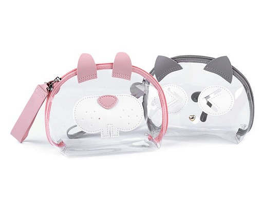 Transparent Case Bunny, Cat 14x20 cm