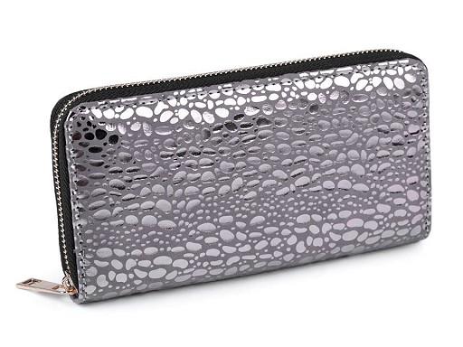 Dámská peněženka metalická 10x19 cm