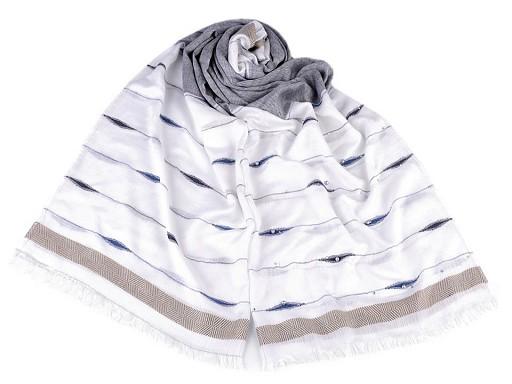 Šátek / šála s perlami a kamínky 70x180 cm