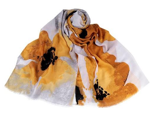 Šátek / šála květy 80x175 cm