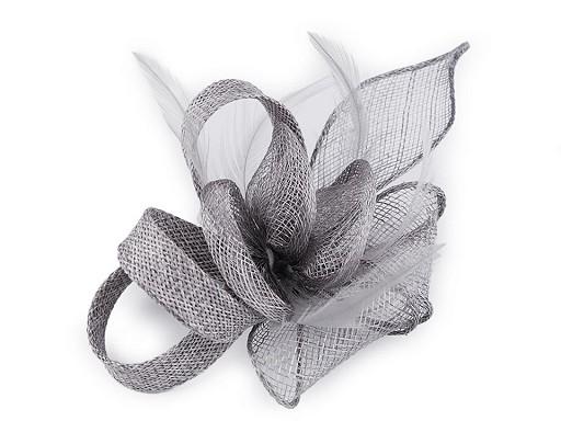 Fascynator / broszka kwiat z piórem